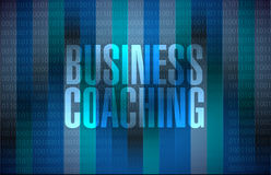 Business coaching binary sign concept Royalty Free Stock Image