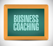 Business coaching board sign concept Stock Images