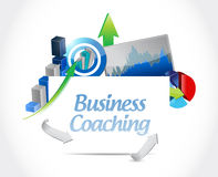 Business coaching board sign concept. Illustration design graphic Royalty Free Stock Photos