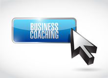 Business coaching button sign concept Stock Images