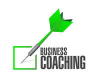 Business coaching check dart sign concept Stock Images