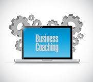 Business coaching computer sign concept Stock Photography