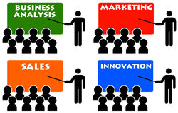 Business coaching. Getting relevant and important business coaching royalty free illustration