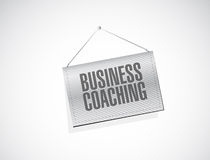 Business coaching hanging banner sign concept Royalty Free Stock Image