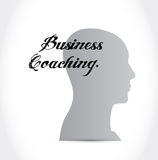 Business coaching head sign concept Stock Images