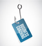 Business coaching hook sign concept Royalty Free Stock Photo