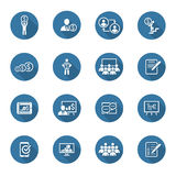 Business Coaching Icon Set. Online Learning. Flat Design. Royalty Free Stock Image