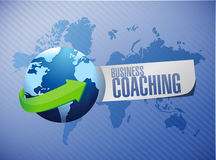 Business coaching international sign concept Royalty Free Stock Photos