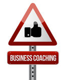business coaching like road sign concept Stock Photo