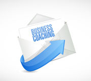 Business coaching mail sign concept Royalty Free Stock Photos