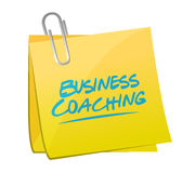 Business coaching memo post sign concept Stock Images