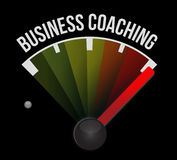 Business coaching meter sign concept Stock Image