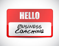 Business coaching name tag sign concept Royalty Free Stock Photos