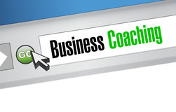 business coaching online sign concept stock illustration