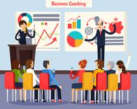 Business Coaching Orthogonal Composition Royalty Free Stock Photos