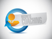 Business coaching people sign concept Royalty Free Stock Photo