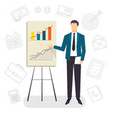 Business Coaching. Project presentation. Stock Photos