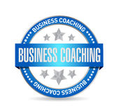 Business coaching seal sign concept. Illustration design graphic Royalty Free Stock Images