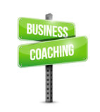 business coaching street sign concept Stock Photo