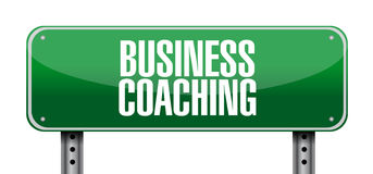 Business coaching street sign concept Stock Images