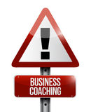 Business coaching warning sign concept Royalty Free Stock Photo