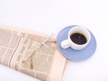 Business coffee royalty free stock photography
