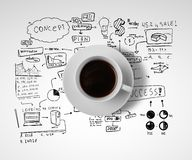 Business and coffee Royalty Free Stock Image