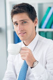 Business coffee break Stock Images
