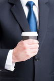 Business coffee break concept Stock Photo