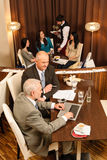 Business coffee break executive business men Royalty Free Stock Photo