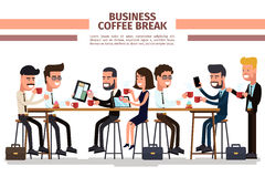 Business coffee break Royalty Free Stock Photos