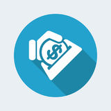 Business coin icon. Business coin vector flat icon Stock Photo