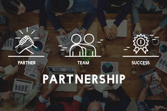 Business Collaboration Teamwork Corporation概念 库存例证