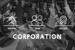 Business Collaboration Teamwork Corporation概念 向量例证