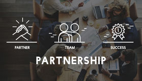 Business Collaboration Teamwork Corporation概念 免版税库存图片