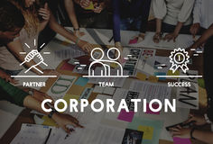 Business Collaboration Teamwork Corporation概念 库存照片