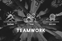 Business Collaboration Teamwork Corporation概念 免版税库存照片