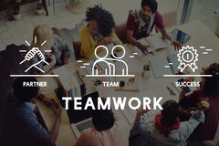 Business Collaboration Teamwork Corporation概念 图库摄影