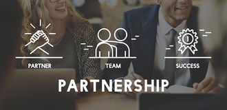 Business Collaboration Teamwork Corporation概念 皇族释放例证