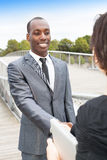 Business collaborators handshaking Royalty Free Stock Images
