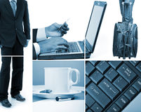 Business collage. Image design on white Royalty Free Stock Image