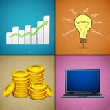 Business Collage Stock Photo