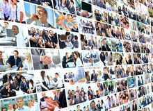 Business collage. Young and successful Royalty Free Stock Image