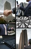 Business collage. Business and technology big collage stock image