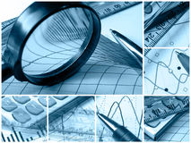 Business Collage (blue) Stock Photos