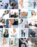 Business collage of images with people Royalty Free Stock Photography