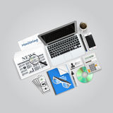 Business collage items Stock Image