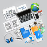 Business collage items Royalty Free Stock Photography