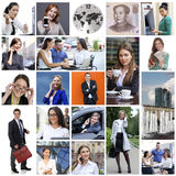 Business collage made of many different pictures about finances Royalty Free Stock Photo