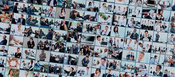 Collage from business picture Stock Images